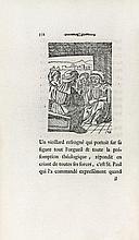 ÉRASME (Didier). Éloge de la folie. Bâle, J. J. Thurneysen le jeune, 1780. In-8, maroquin havane, filets doré alternés de filets à froid en encadrement, décor à la Du Seuil avec au centre un écu dessiné au filet contenant un chiffre doré, dos orné du