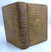 ANTHOLOGIA GRAECA. Florigelium hoc est veterum Graecorum poëtarum Epigrammata comprehensa libris septem. S.l. Heildelberg, in bibliopolio Commeliniano, 1604. In-4, maroquin blond, triple filet doré, plats semés de fleurs de lys et d'un monogramme