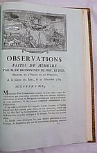 BRETAGNE. Recueil sur les canaux de Bretagne. 1783-1784. 13 pièces en un volume in-folio, demi-basane bleue, dos lisse orné de filets dorés (Reliure du XIXe siècle).