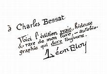 BLOY (Léon). Le Désespéré. Paris, A. Soirat, 1886. In-12, demi-basane rouge, dos lisse orné d'un fleuron doré, tranches mouchetées, premier plat de couverture (Reliure de l'époque).