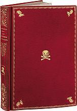 LASSAILLY (Charles). Les Roueries de Trialph, notre contemporain avant son suicide. Paris, Sylvestre, 1833. In-8, bradel maroquin rouge à long grain, filet et cordelière dorés en encadrement avec marottes en capuchons à grelots dorées aux angles,
