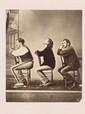 CORBIÈRE (Tristan). -Portrait du poète, d'Aimé Vacher et de Ludovic Alexandre. Photographie sur carton, format carte postale (129 x 106 mm).