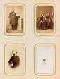 CORBIÈRE (Tristan). - Ensemble 3 portraits photographiques de Madame Corbière et de sa fille Lucie à des âges différents, format carte de visite (environ 85 x 55 mm).