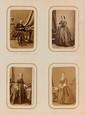 CORBIÈRE (Tristan). - Ensemble 4 portraits photographiques de Madame Corbière, format carte de visite (environ 90 x 55 mm).