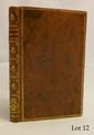 ARISTÉNÈTE. Lettres galantes. Cologne, 1752. Petit in-8, veau marbré, triple filet doré, dos lisse orné de fleurons dorés, armes en queue de dos, tranches rouges (Reliure de l'époque).