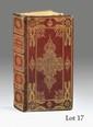 BARCLAY. Satyricon. Leyde, Elzévir, 1637. In-12, maroquin rouge, décor doré sur les plats, dos orné, dentelle intérieure et tranches dorées (Reliure de l'époque).