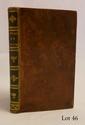 CHAPELLE & BACHAUMONT. Voyage de Chapelle et Bachaumont, suivi de quelques autres voyages dans le même genre. Paris, Lemarchand, 1801. In-12, basane racinée, filet à froid, dos lisse couvert de maroquin vert orné de fleurons et filets dorés, tranches