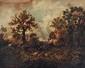 Narcisse DIAZ de la PENA (1807-1876).  La ForÍt de Fontainebleau.  Huile sur panneau.  signée en bas à gauche.  H.  23 cm - L.  28 cm.  Provenance : J S Berliner.