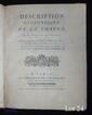 CASSINI DE THURY (César-François). Description géométrique de la France. Paris, J. Ch. Desaint, 1783. In-4, cartonnage orangé, non rogné (Reliure du XIXe siècle).