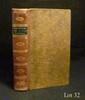 CONSTITUTIONS des treize États-Unis de l'Amérique. Philadelphie ; Paris, Ph.-D. Pierres, Pissot, 1783. In-8, demibasane brune, dos lisse orné, pièce de titre noire, tranches jonquille (Reliure vers 1820).