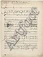 Alexandre GRETCHANINOV. Manuscrit musical autographe, Putyi Tvoi, Gospodi, skaji mne, [1928] ; 10 pages in-fol.