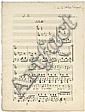 Charles GOUNOD (1818-1893). Manuscrit musical autographe signé, Le Prisonnier d'État, romance, [1838 ?] ; titre et 3 pages in-fol.