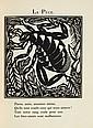 APOLLINAIRE (G.) - DUFY (R.). Le Bestiaire ou Cortège d'Orphée. Paris, Deplanche, 1911, in-4°, vélin ivoire à la bradel, sur les plats, décor art déco de filets dorés et pièces géométriques mosaïquées de box ocre et noir, sur le premier, noms de