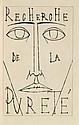 GIONO (J.) - BUFFET (B.). Recherche de la pureté. [Paris, Henri Creuzevault, 1953], in-folio, maroquin noir, roulette à froid autour des plats, dos à nerfs, couverture, tranches lisses, étui gainé de même maroquin.