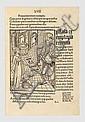 BRANT (Sébastien). Stultifera navis. Bâle, Johann Bergman de Olpe, 1er mars 1498. In-4, vélin ivoire, double filet, dos lisse orné de filets, pièce de titre rouge, doublure et gardes de soie moirée beige (Reliure moderne).