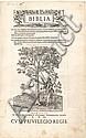 BIBLIA Hebræa, Chaldæa, Græca & Latina nomina virorum, muelierum, populorum, idolorum, urbium, fluviorum, cæterorumque locorum quæ in Bibliis leguntur. Paris, Robert Estienne, 1540. 4 parties en un volume in-folio, veau brun, dos à sept nerfs,