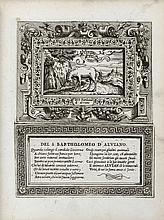 DOLCE (Lodovico). Imprese di diversi Principi, Duchi, signori, e d'altri personaggi, et huomini illustri. Con alcune stanze Sonetti di M. Lodovico Dolce. [Venise], 1566. In-4, maroquin rouge, triple filet doré en encadrement et fleurons dorés aux