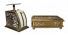 Tiffany Studios Grapevine Letter Scale & Stamp Box