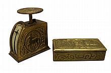 Tiffany Studios Zodiac Letter Scale & Stamp Box