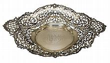 J.E. Caldwell Sterling Silver Reticulated Basket