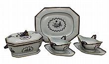 Samson Porcelain Armorial Export Serving Pieces