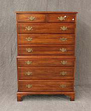 3 Piece Set, Cherry, by Virginia Galleries, (1) Chest on Chest 56