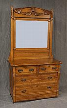 Two over Two Drawer Bureau on Casters 77 1/2
