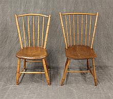 Pair of Bamboo Faux Chairs, Fair Condition, 34