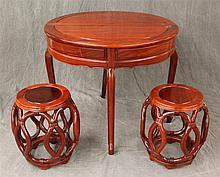 3 Piece Set, (1) Half Fold / Full Round Rosewood Table, 30