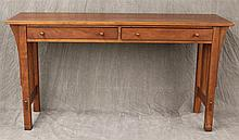 Stickley, Sofa Table, Cherry, Two Drawers, 29