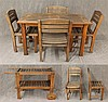 Smith Hawken, 6 Piece Outdoor Set, Oak, (Fading, Fair Condition) (1) Breakfast Table 28