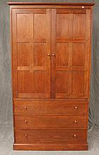 Stickley, Entertainment Cabinet, Cherry, Two Doors Over Three Drawers, (Very Good Condition), 76 1/2