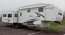 2006 Komfort Model 341 FS Fifth Wheel Travel Trailer RV, VIN# 1K53KFR2862032649, 14,199 GVWR lbs, Hitch Weight 2,199 lbs, All Alumin...