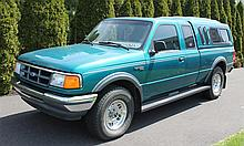 1994 Ford Ranger XLT, Super Cab, Pick-Up Truck, 6' Bed, 4.0 Liter V-6 Engine, 5 Speed Manual, 4 Wheel Drive, 37,702 Miles, VIN# 1FTC..