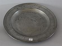 Pewter Charger, London, 13