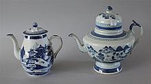 Canton Coffee Pot and Tea Pot. Domed lid 10