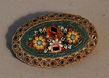 Micro Mosaic Italian Broach, floral. 2