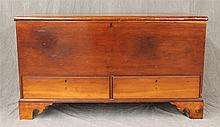 Blanket Chest, Pine, Two Drawers on Bracket Base, (Minor Chipping), 26 1/2