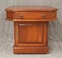 Pennsylvania House, Bedside Table, Cherry, One Drawer over One Door on Casters, 22