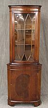 Pulaski Furniture Corp, Corner Cupboard, Mahogany, One Glazed Door over One Panel Door, 71