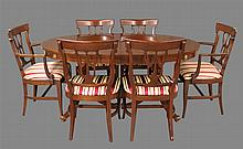Rway Furniture, Dining Room Suite, Cherry (1) Table with Four 9