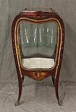Louis XV Vitrine, Kingwood, Ormolu Mounts, Painted Floral and Figured Designs on Cabriole Legs, 40