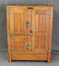The Vermonter, Ice Chest, Oak, Three Doors, (Some Chipping,) 44