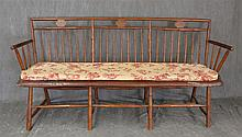 Butterfly Windsor Bench, Plank Seat, (Good Condition, Minor Chipping), 34