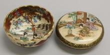 Satsuma Bowl and Bowl with Cover
