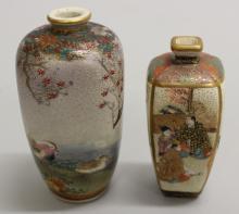 Set of Two Satsuma Vases