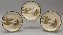 Set of Three Satsuma Plates