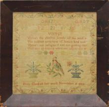 Eliza Clackett 1848 Sampler