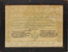 Emaline Hanford 1831 Sampler