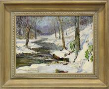 William Francis Taylor (1883-1970, Pennsylvania) Winter Brook